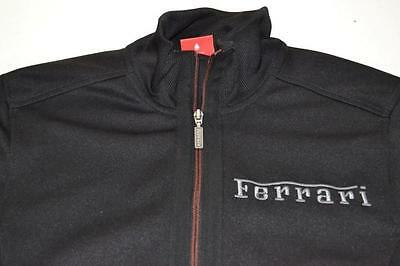Puma Scuderia Ferrari Racing Black Full Zip Sweater Jacket Mens Size Small S