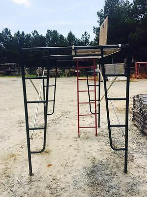 """A1 Scaffold Aluminum Plywood 28"""" x 7' Walkboard With Hatch And Access Ladder"""