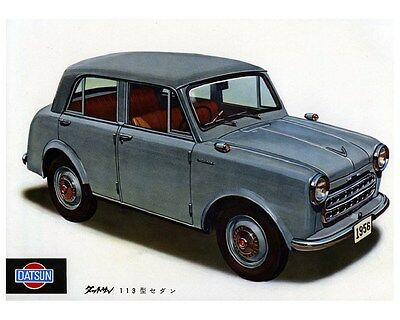 1956 Datsun Model 113 Sedan Factory Photo ca2777