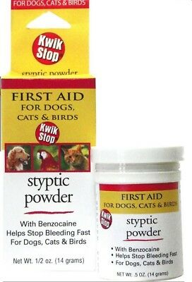 Miracle Care Kwik Stop Styptic Powder For Dogs, Cats & Birds - .5 Oz./14 g
