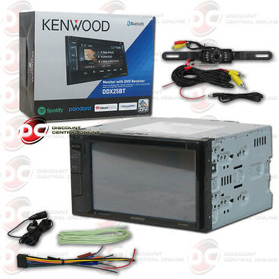 "Kenwood Ddx24Bt Car 6.2"" Dvd Bluetooth Stereo Free Black License Plate Camera"