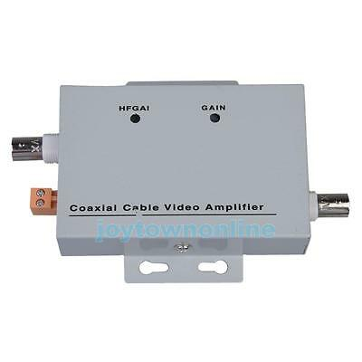 Coaxial Cable BNC Video Signal Amplifier Booster Security CCTV Camera Connectors