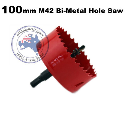 100mm M42 Bi-Metal Hole Saw with Arbor Metal sheet cutting wood plaster new