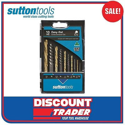 Sutton Tools 10 Piece Screw Extractor Set – Easy-Out M603S20L