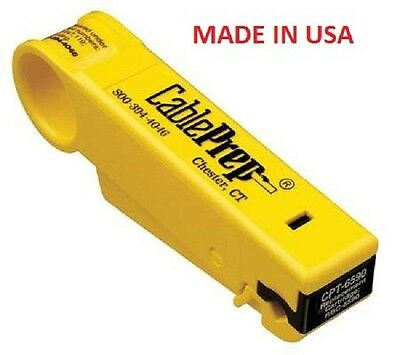 Cable Prep CPT6590 RG6 RG59 Coaxial Cable Stripper Tool Commercial Grade