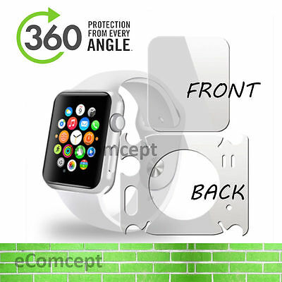Full Body Screen Protector For Apple Watch iWatch Back Front Side Skin 38mm