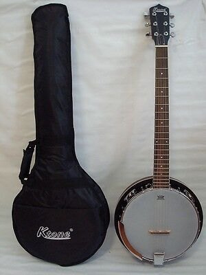 6 String Banjo, Closed Back, 24 Bracket, Remo Head, Free Gig Bag