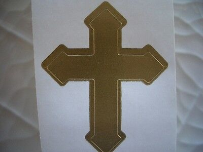 100 GOLD CROSS tanning bed stickers.tattoos.crafts.scrapbook.spray tan
