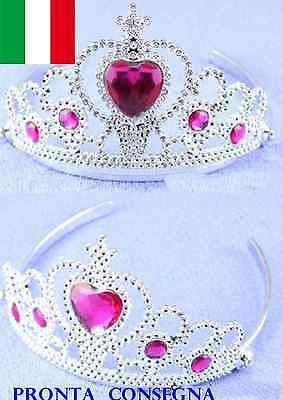 Corona Frozen  Anna Regina Delle Nevi Tiara Pietre Girl Crown Dress Up Bimba New