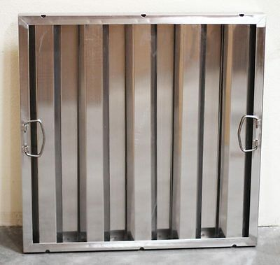 """Box of 6 Stainless Steel Hood Filter Baffle, 20""""H x 20""""W Commercial Range"""
