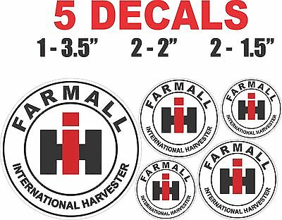 5 Round Farmall IH International Harvester Vinyl Decals - Sharp & Crisp