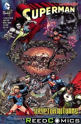 SUPERMAN KRYPTON RETURNS GRAPHIC NOVEL New Paperback Collects Crossover Issues