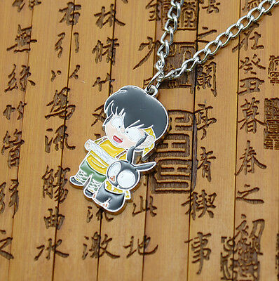 Ranma 1/2 necklace Black Pig P-Chan Metal pendant +chain