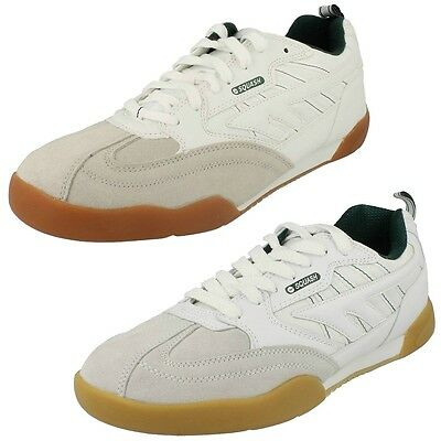 Mens Hi Tec Trainers Indoor Sports Casual Lace Up Leather Shoes Squash Classic