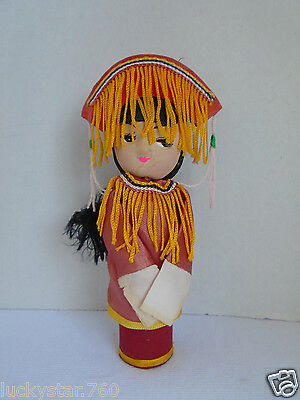 Vintage Wooden Peg Chinese Kokeshi Doll