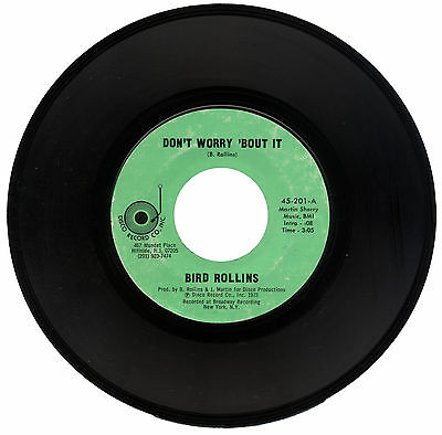 "BIRD ROLLINS  ""DON'T WORRY 'BOUT IT c/w ALL ON ACCOUNT OF YOU""  FUNK   LISTEN!"