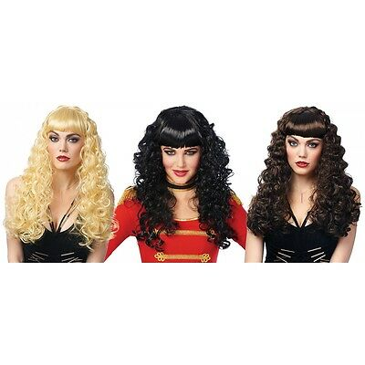 Pin-up Wigs Adult 50s Rockabilly Bettie Page Costume Halloween Fancy Dress