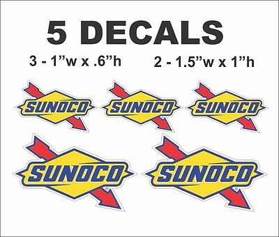 5 Sunoco Vinyl Decals