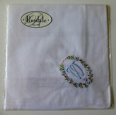 """Rosdale handkerchief embroidered with the letter """"W"""""""