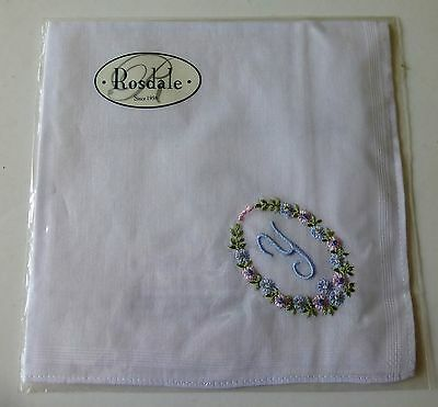 """Rosdale handkerchief embroidered with the letter """"Y"""""""