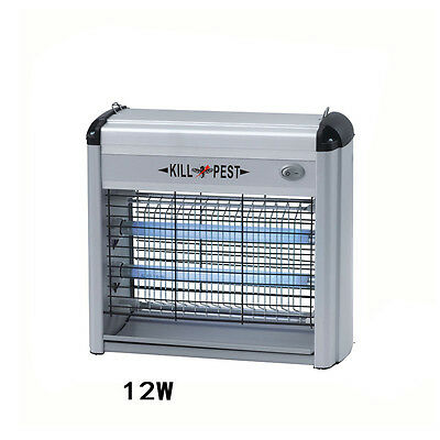 12W UV Lamp Grid Electric Indoor Insect Killer Kill Moths Flies Mosquito Zapper