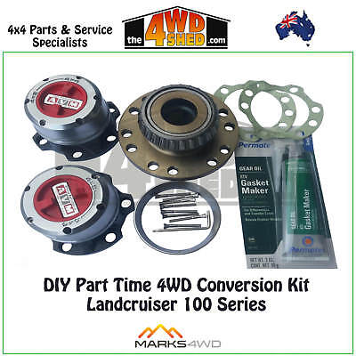 Part Time Diy 4Wd Conversion Kit + Bearing Toyota Landcruiser 100 105 Series