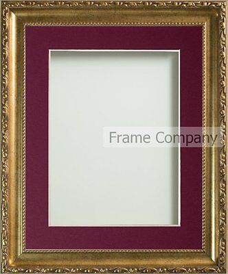 Brompton Range Vintage Cream or Gold Picture Photo Frames with Choice of Mount