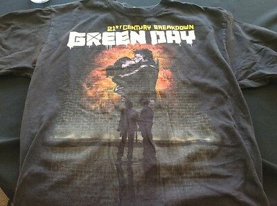 Green Day 21st Century Breakdown adult t-shirt L Large Black EUC NICE!