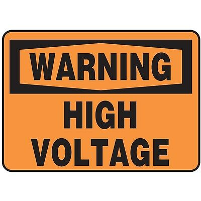 NS Signs Warning High Voltage OSHA Safety Sign