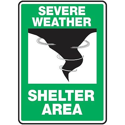 NS Signs Severe Weather Shelter Area Graphic OSHA Safety Sign