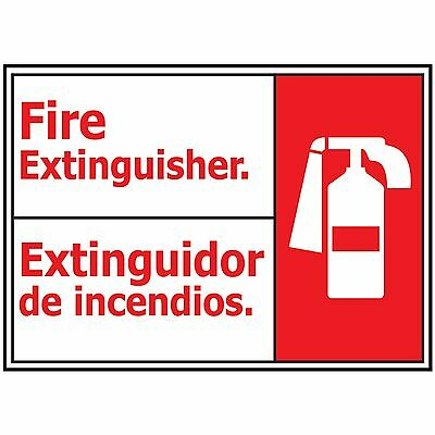 """NS Signs 10"""" x 14"""" Fire Extinguisher & Graphic Bilingual ANSI Safety Sign"""