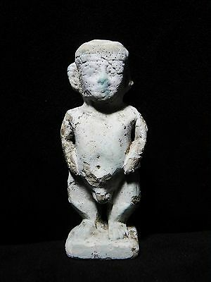 Zurqieh - Ancient Egypt - Huge Amulet Of A Dwarf, 600 - 300 B.c