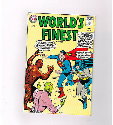 """WORLDS FINEST #144 Grade 8.0 Silver Age! """"1,000 Tricks of Clayface and Braniac"""""""
