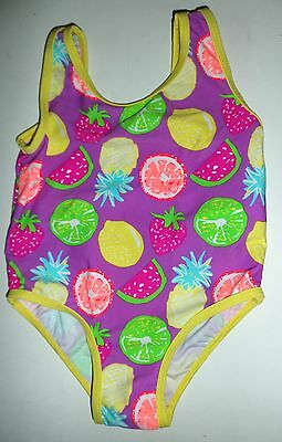 Baby Girl Swimming Costume in Multi Coloured with Fruit detail. Size 1.5 - 2 yrs
