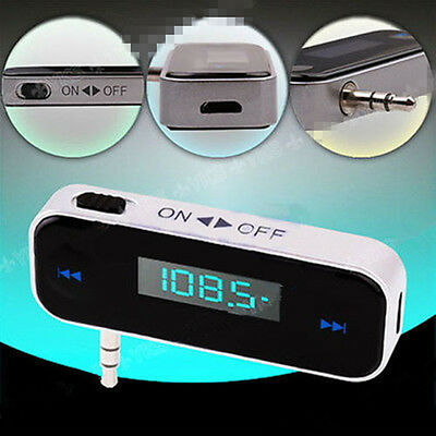 In-Car FM Transmitter for iPhone 6 5 4 Play Music to Car Radio Stereo Wireless B