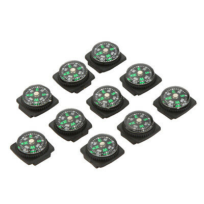 HOT Portable 10PCS MINI Compass for Paracord Bracelet Camping Hiking Tool