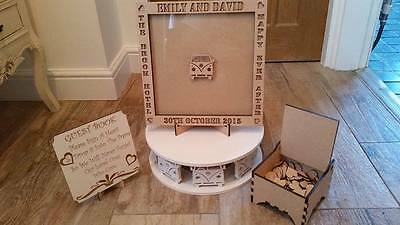 Wedding Drop Box Guest Book Complete Package With Hearts