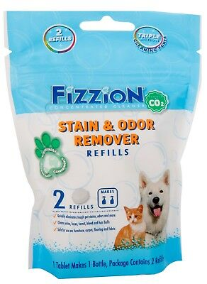 Fizzion Concentrated Cleaner 2 Tablet Pack Bag CO2 Pet Stain & Odor Remover 46oz