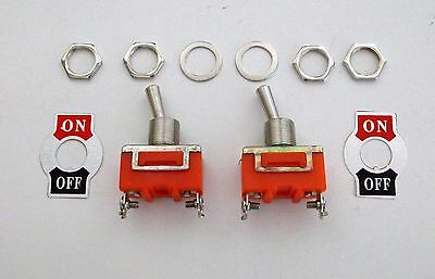 2 BBT Marine Grade On//Off 20 amp Heavy Duty Toggle Switches w// Waterproof Boots