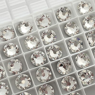Swarovski Crystals Glue on 100 x SS12 Clear flatbacks diamantes rhinestones gems