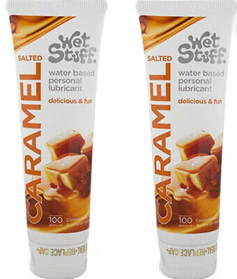 2 x Wet Stuff Salted Caramel Tube 100g SEX Lubricant Toys Fun Play Lube