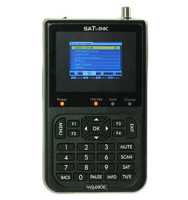 "SATLINK WS-6906 DVB-S Digital Satellite TV Receivers Satellite Finder 3.5"" LCD"