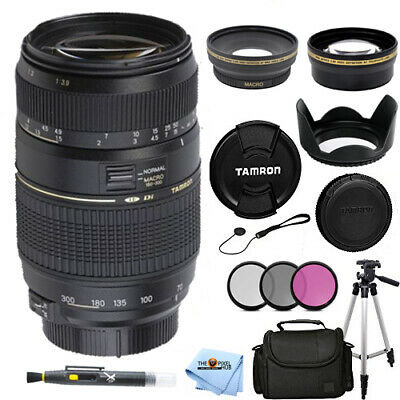Tamron Zoom Telephoto AF 70-300mm f/4-5.6 Di LD Macro for Canon Filter Bundle