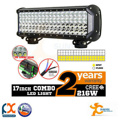 Sunyee 17in 216w Cree Led Work Light Bar Spot Flood Light 4x4 Offroad