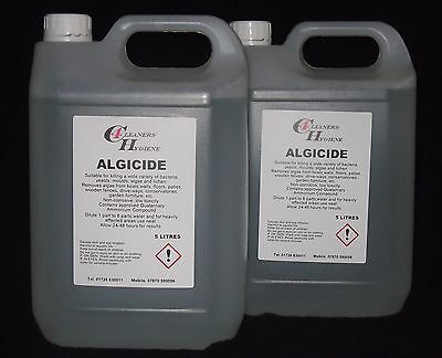 10L Moss Algae Killer Growth Control for Fence Panels Paths Driveways Roof Tiles