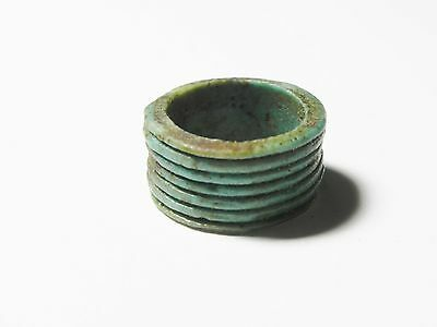 Zurqieh -Ancient Egypt - Beautiful 18Th Dynasty Faience Ring, 1400 B.c