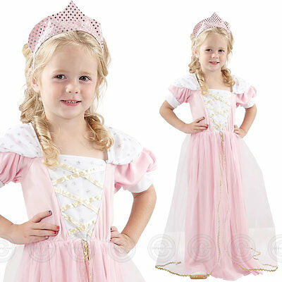 Girls Toddler Sleeping Princess Fancy Dress Costume Beauty Outfit Queen Childs