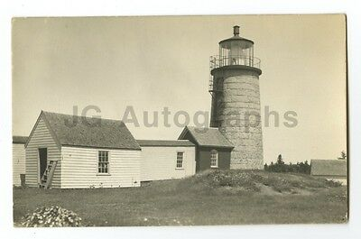 Lighthouse - Vintage Silver Print Postcard - Circa Early 1900s