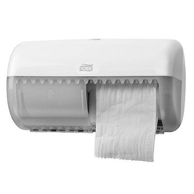Tork Conventional Twin Toilet Roll Dispenser White T4 System (557000)