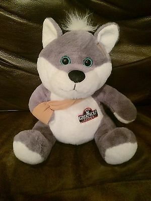 Great Wolf Lodge Plush Wolf with Boo Boo Bandage & Splint by Petting Zoo 1994